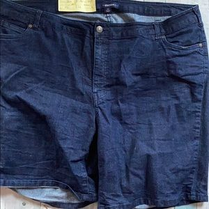 Vintage Lane Bryant Dark Blue Jean Shorts